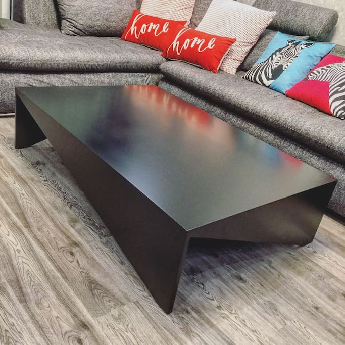 Designer coffee table in the living room
