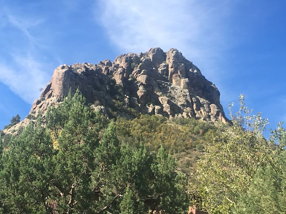 My place is literally directly under Thumb Butte with Nat'l Forest trails a short walk down the street.