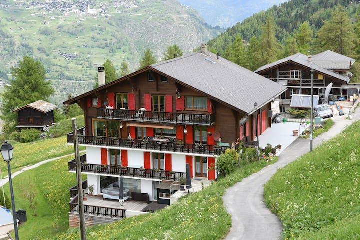 Acogedor apartamento en Grächen cerca del bosque