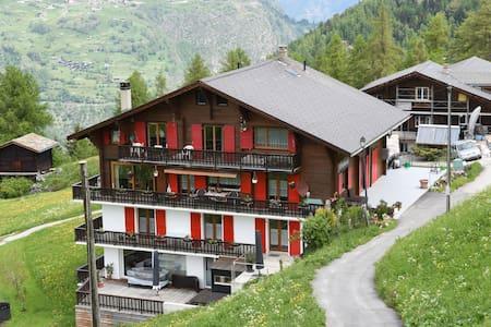Appartement confortable à Grächen près de la forêt