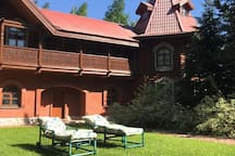 Tsar Villa with lake in Moscow