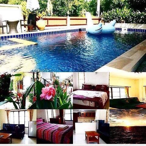 2 bedroom house which pool on Lipa Noi beach
