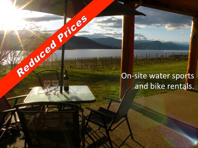 2 BR suite, Lakefront Vineyard, great privacy