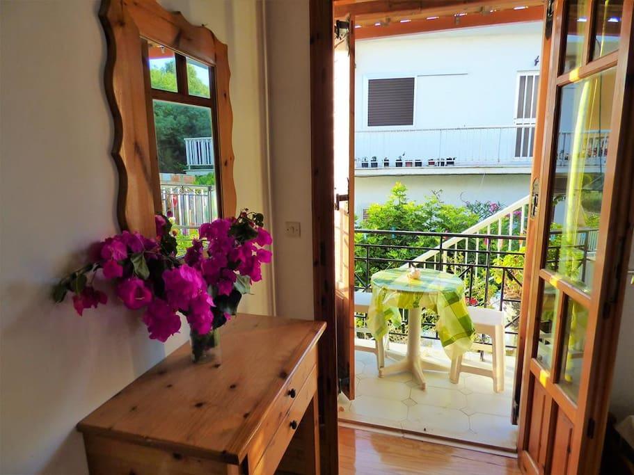Interior and balcony