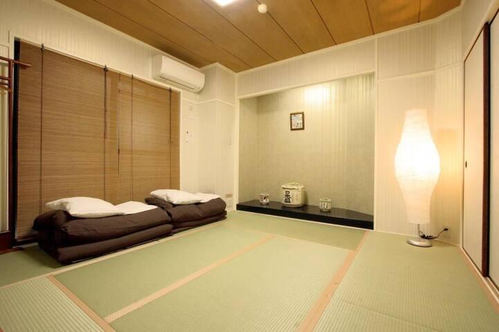 西宮駅まで5分!Free wi-fi, Japanese style room (up to 2 guests)
