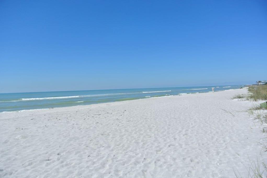 Miles of White sand beach