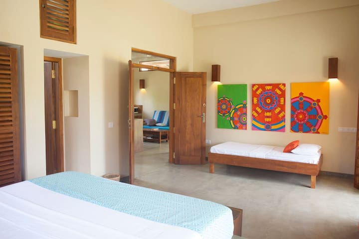 Deluxe suite in safari villa with pool