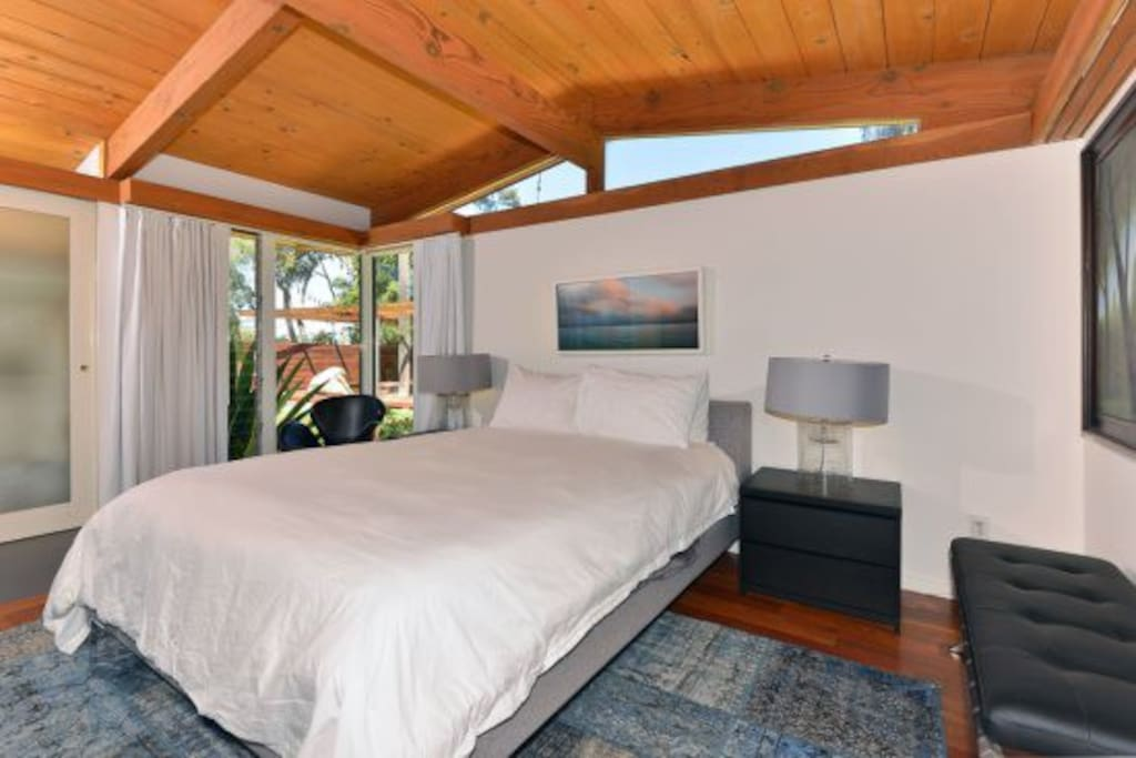 Master bedroom suite is secluded and private with en-suite luxurious master bathroom