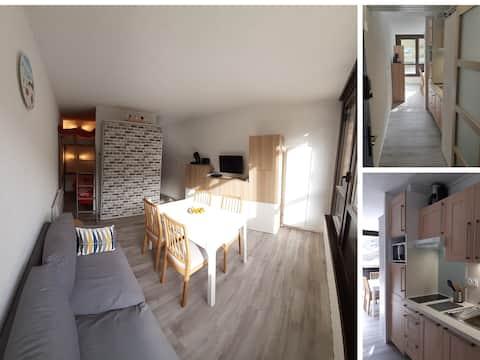 Studio cabine 4/6 - Piau Engaly plein sud
