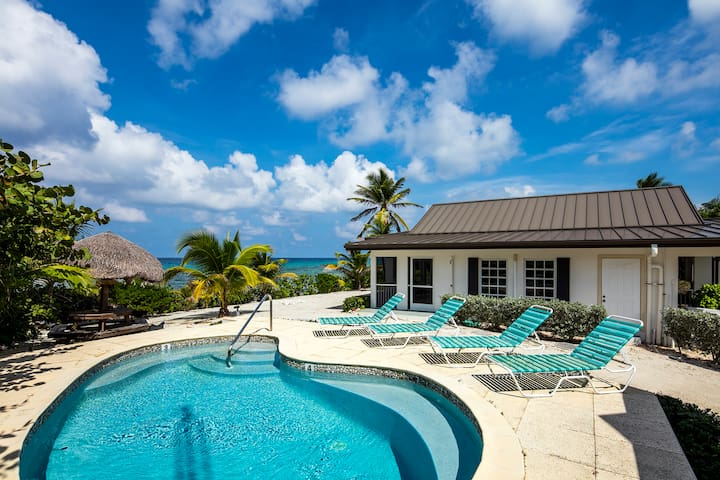 Conched Out: Beachfront Cottage w/ Private Pool & Backyard Snorkeling
