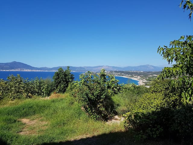 "Apartment, magnificent view on ""golfe d'Ajaccio"""