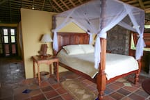The master bedroom  offers greater privacy for honeymoons or special anniversary moments.