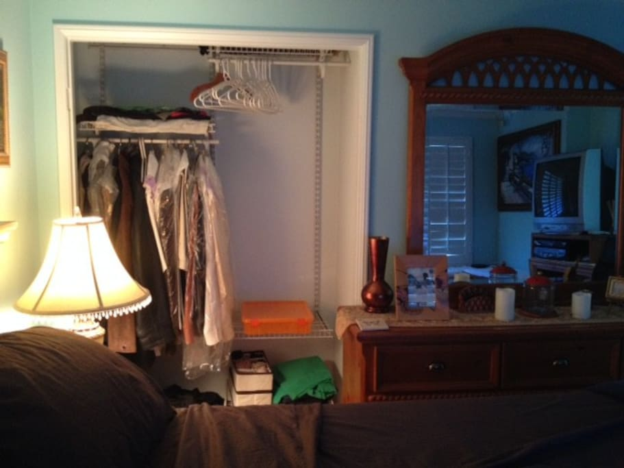 Closet space for your use