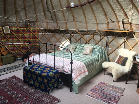 Rural Yurt Retreat near Glastonbury, Somerset