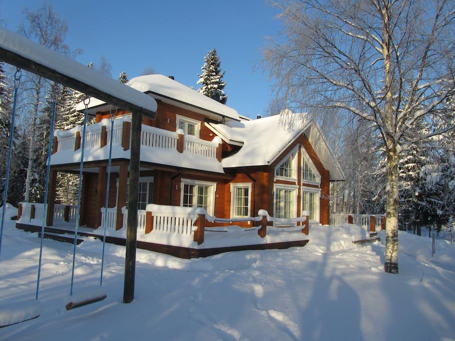 Year round destination, enjoy the winter at the villa