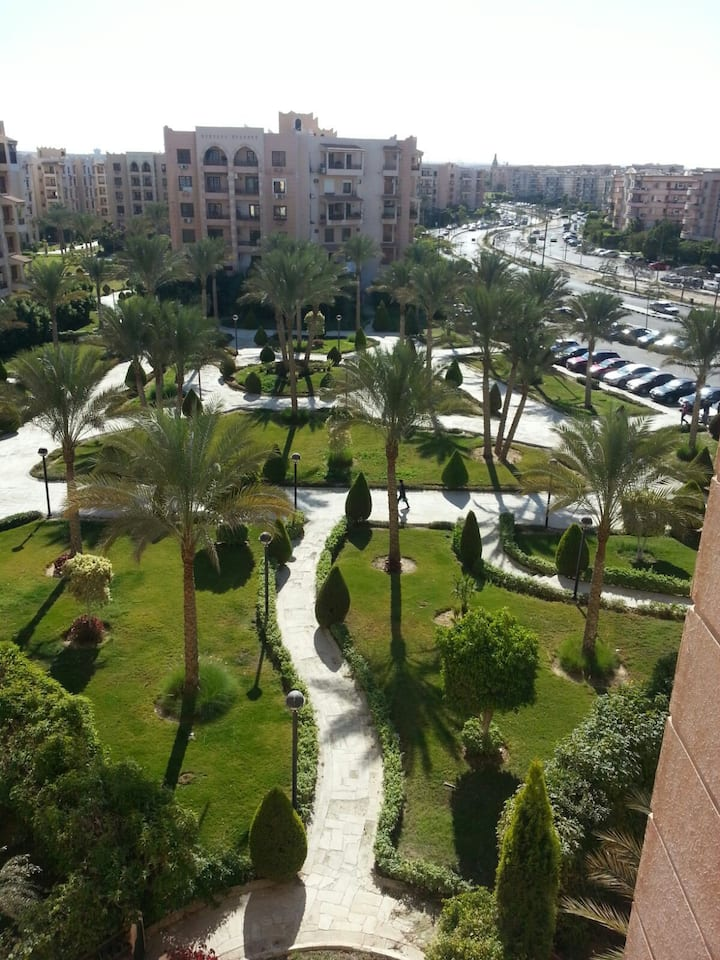 2 bed room , nice view and security entrance