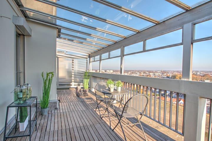 Penthouse met uniek zicht op Antwerpen 15e etage
