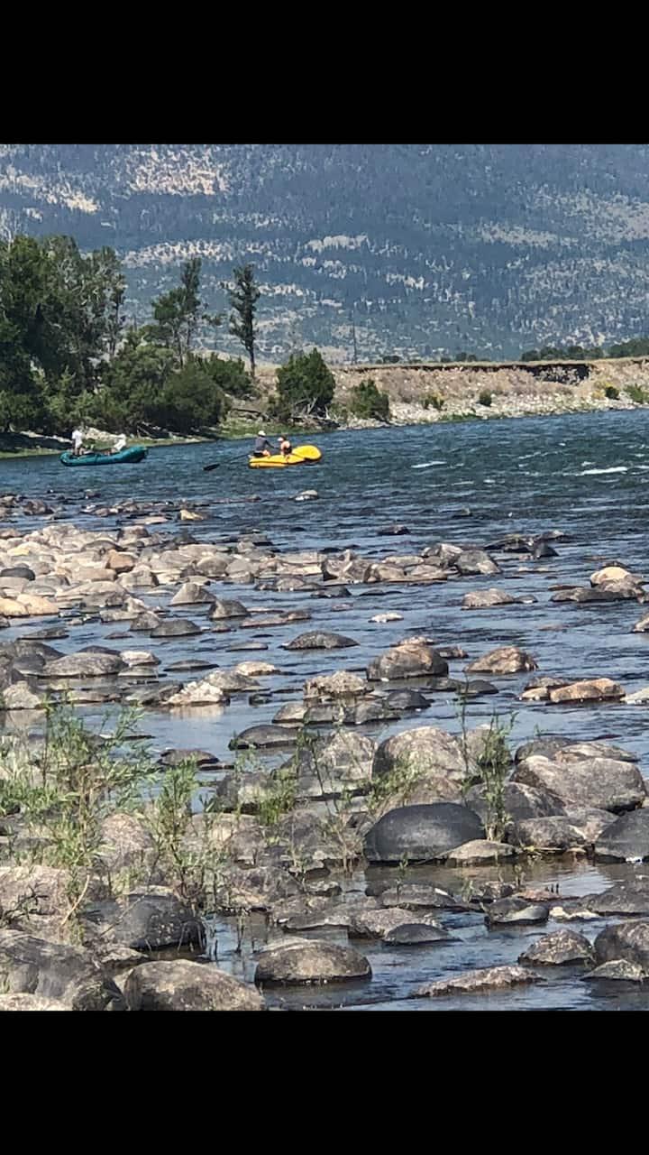 RV Campsite on Yellowstone River