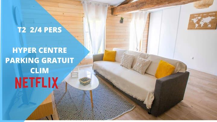 ★ Le Petit Prince de Compostelle ★ Clim ★ Netflix ★ Centre-ville ★ Parking★ covid19 clean ★