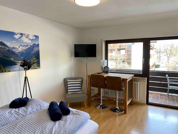 Zentrales Apartment in Garmisch mit Bergblick