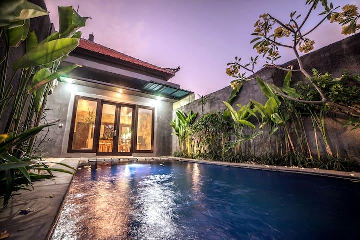 ☀TRANQUIL SHADY☀ SEMINYAK 2BR Private Pool Villa