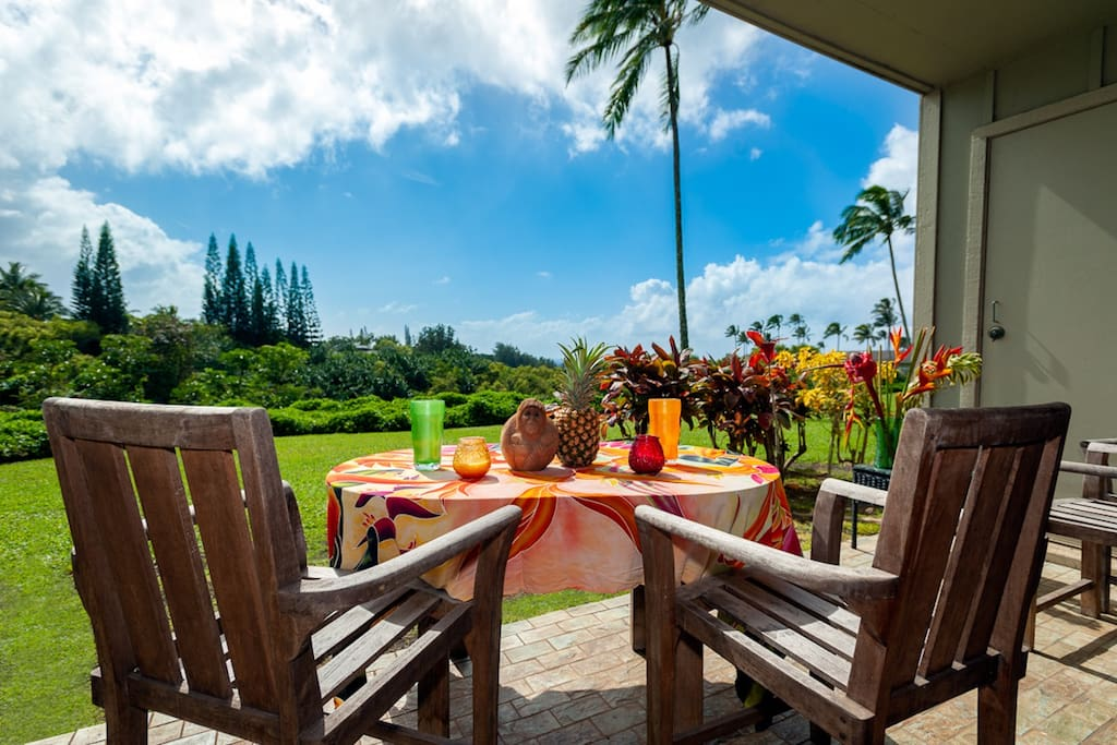 Relax and take in the lush views at Alii Kai 11B