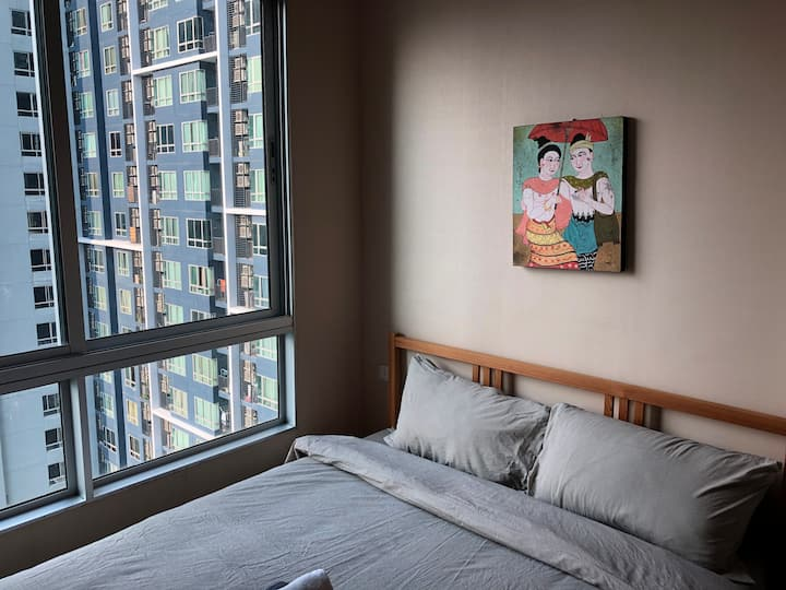Demo Hostel!Comfortable 1BR Free pool, gym, Wi-FI