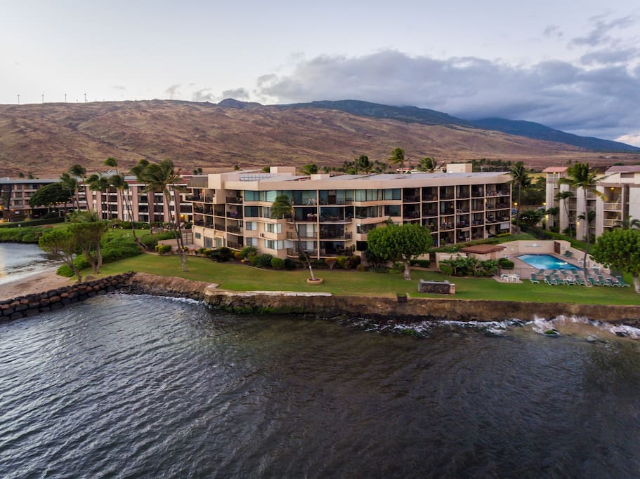 Milowai Resort is nestled between the West Maui Mountains and the Pacific.