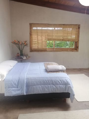 This is the bedroom for you with a queen bed and plenty of space!