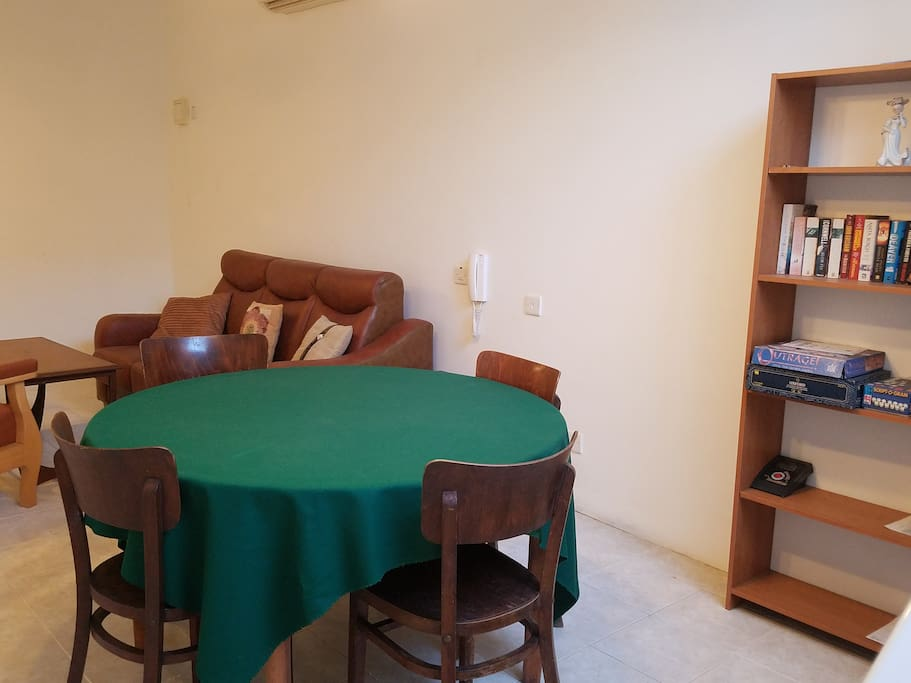 Groundfloor chill area with card table