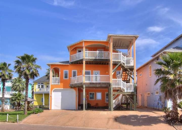 7 BDRM Home W/Beach Access and Pool Sleeps 20