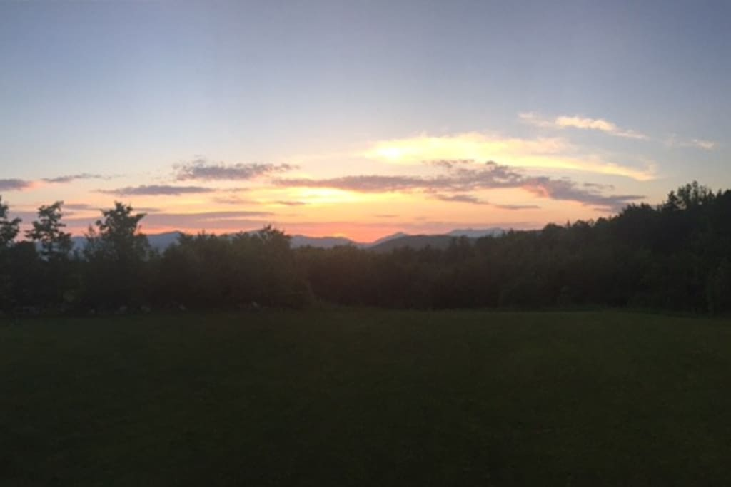 Gorgeous sunsets over the mountains