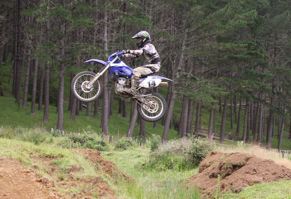 There is Dirt Bike Track