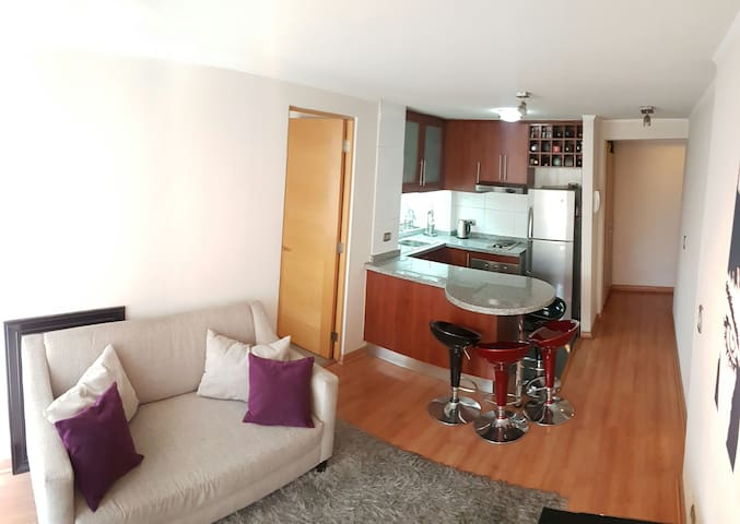 Nice Apartment! Wifi 160Mb Manquehue Subw Station