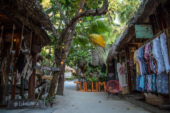Your home in Tulum is through our lovely on site shops