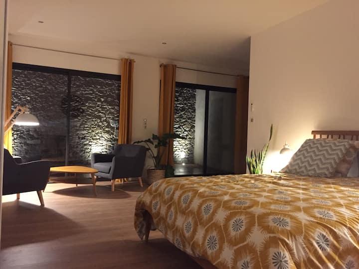 Studio neuf+terrasse privée à 5mn de Carcassonne