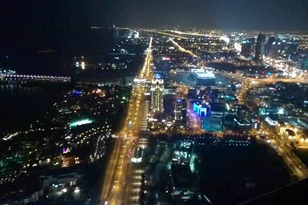 View on Dubai, Burj Al Arab, Burj Khalifa