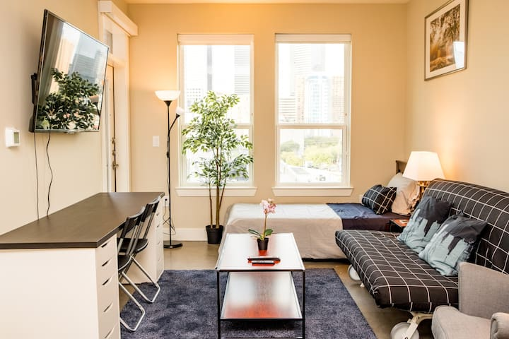 Luxury zen condo sleeps 5 in the heart of Downto