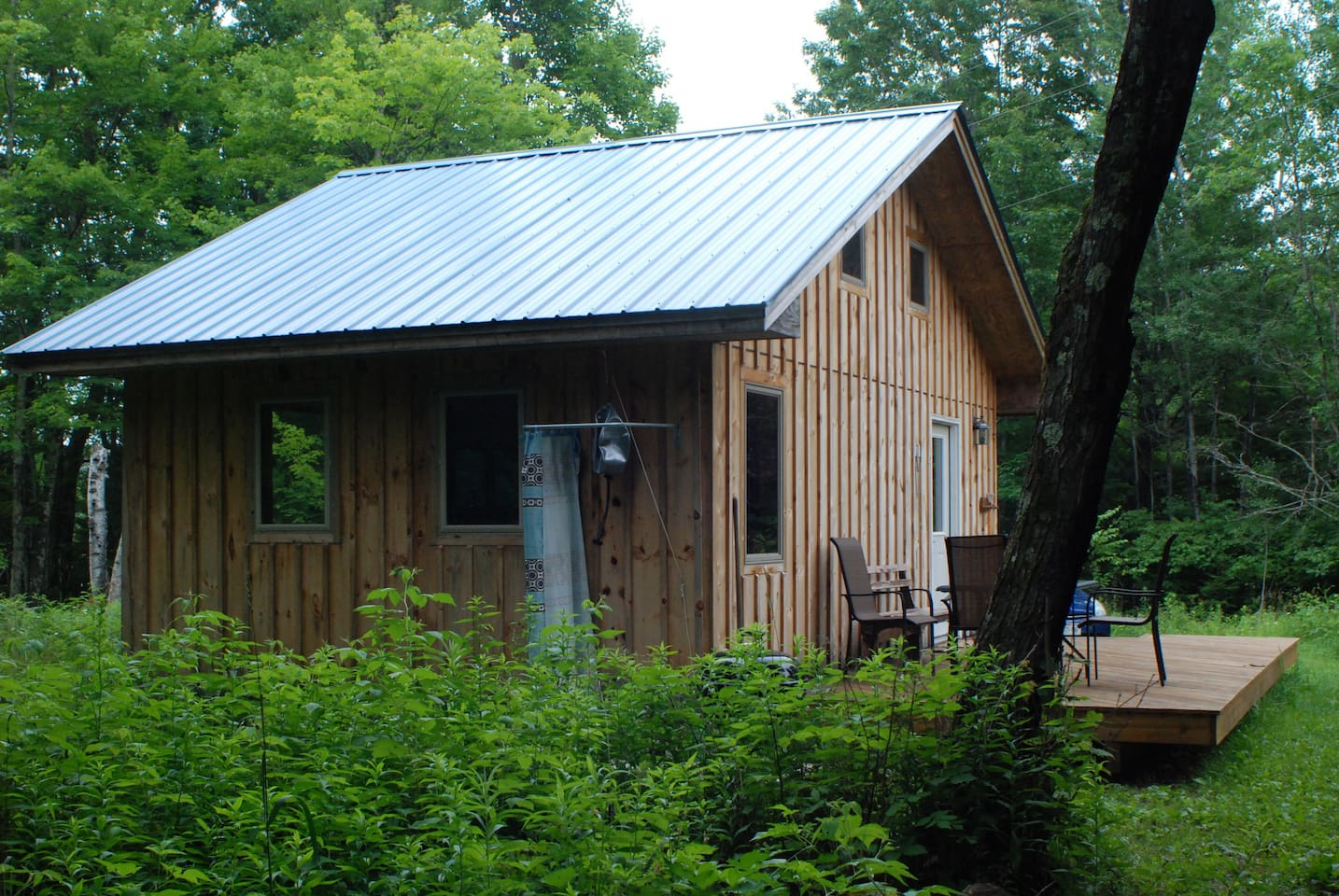 Newly renovated cabin in the woods.