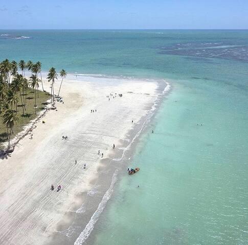 Casa em praia paradisíaca