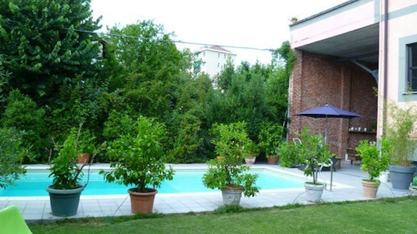 Single villa with private garden and swimming.