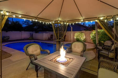 Clean and comfy Scottsdale home with heated pool