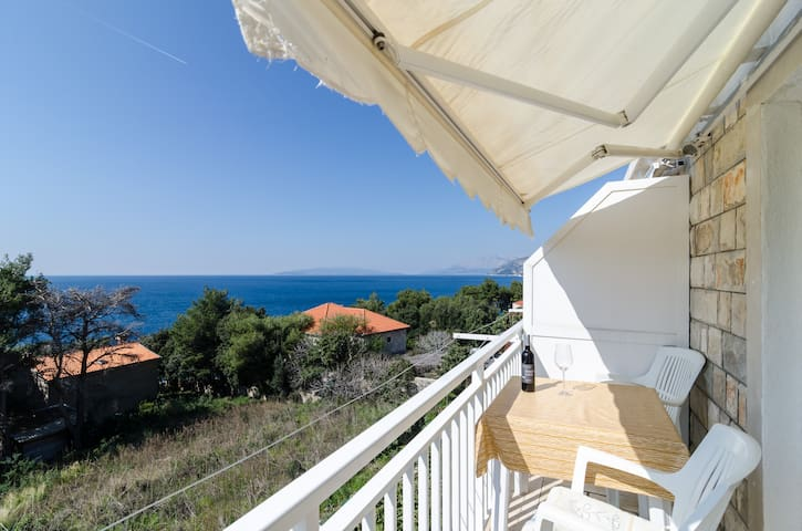 Villa Ana - One Bedroom with Balcony & Sea View 4 - Potomje - Wohnung