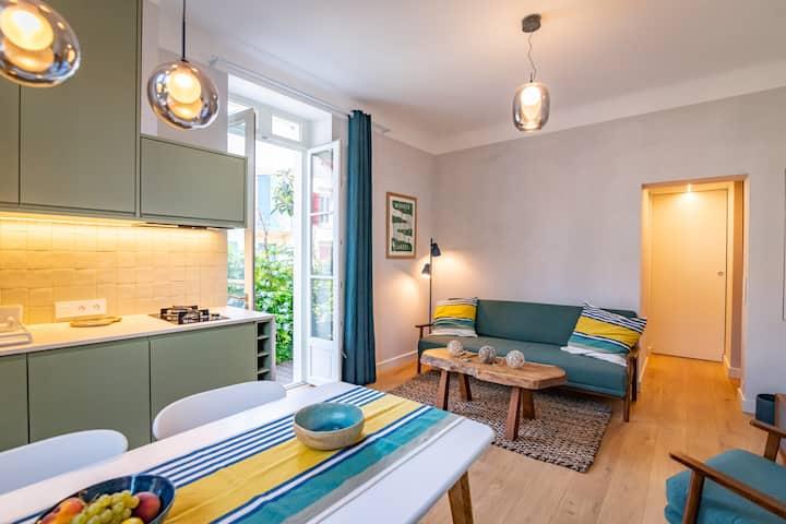Côte des Basques, terrasse, confort et qualité