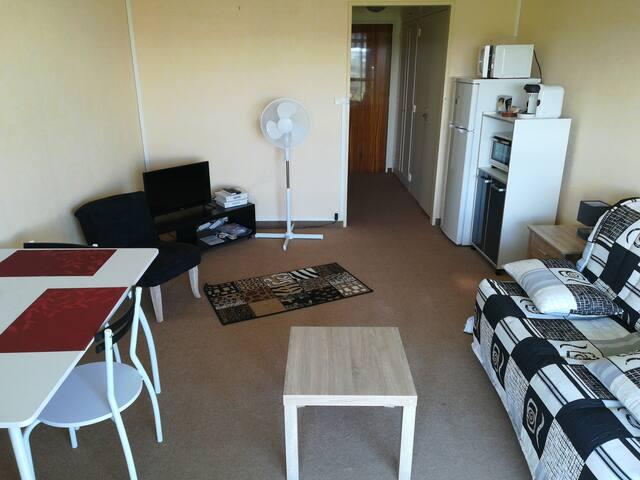 Studio meublé, équipé avec internet