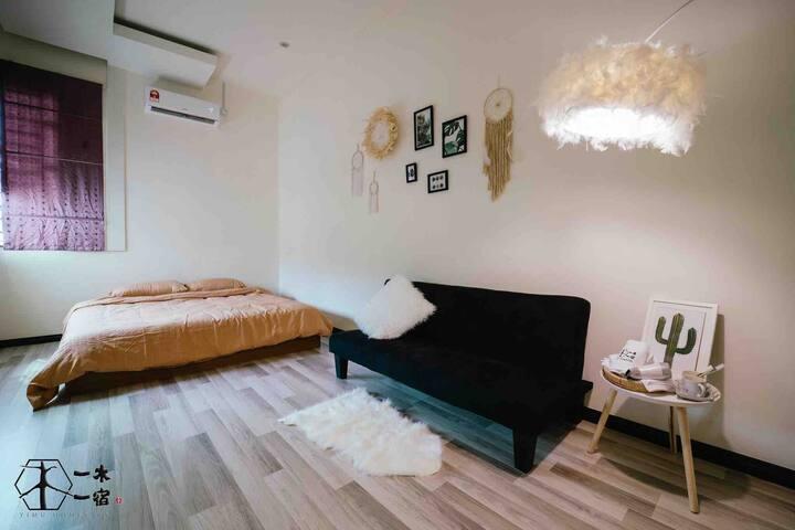 【一木一宿】一木 2人一房 独立卫生间 King Size Bed with toilet