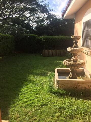 Nuestra fuente en el patio.