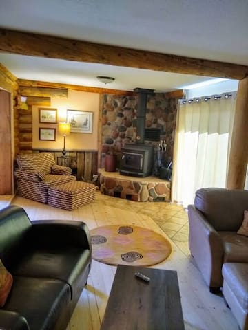 Living room w/ woodstove