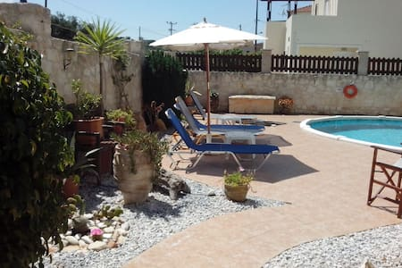 Detached Villa with private pool-3 min from beach - Almyrida - 别墅