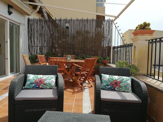 Terraza.Vista lateral.